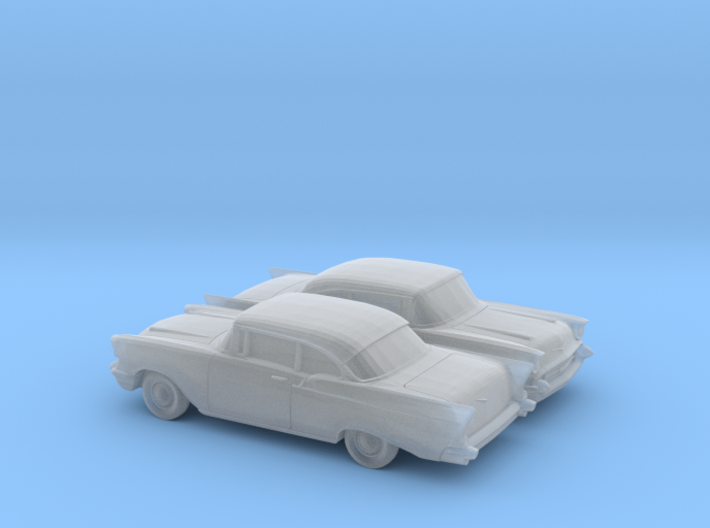 1/160 2X 1957 Chevrolet One Fifty Coupe 3d printed
