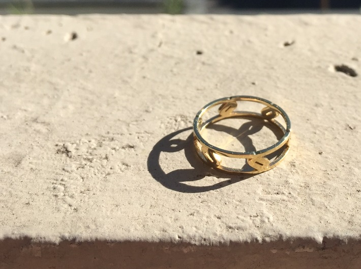 Unique Link Ring  3d printed