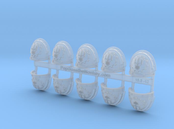10x Mechanized Skull - G:3a Shoulder Pads 3d printed