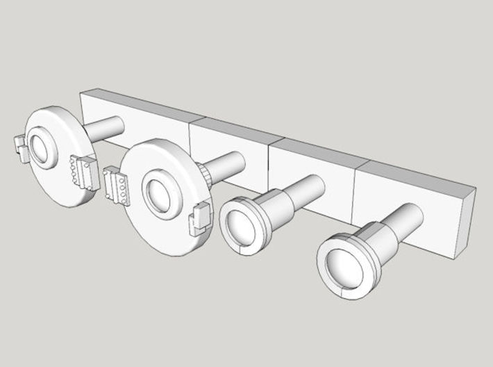 HO NSWGR 44 Class 3 x Marker Lights - Original 3d printed Computer render view without protective box