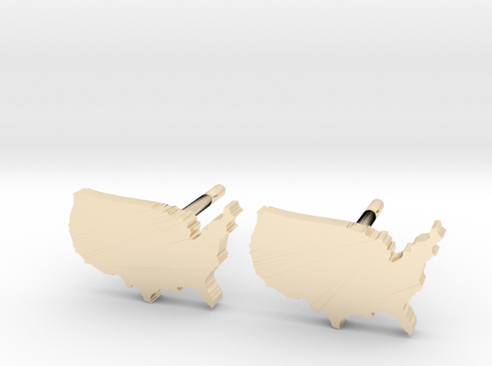 United States Earrings, post style 3d printed