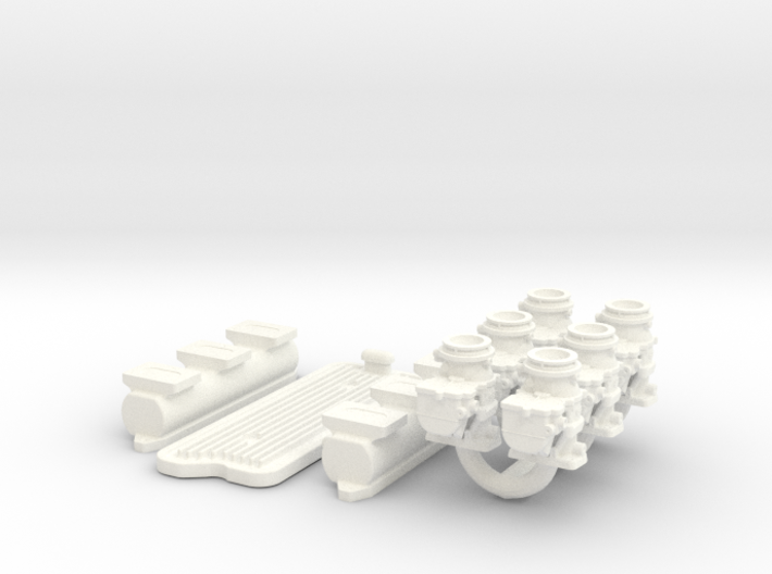 1/8 6X2 Buick Nailhead Intake System 3d printed