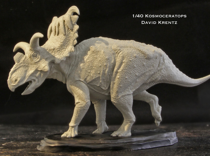 """Kosmoceratops 1/72 Krentz 3d printed PLEASE NOTE- This is 1/40 model (6"""" long) that is available at www.dansdinosaurs.com and www.urzeitshop.de.  It is the same as the Shapeways model only larger with more detail."""