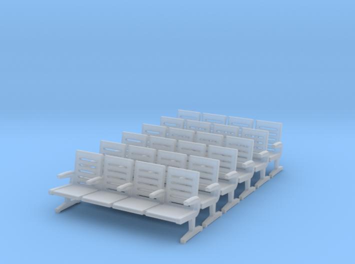 Modern Seat X 6 - OO Scale 3d printed