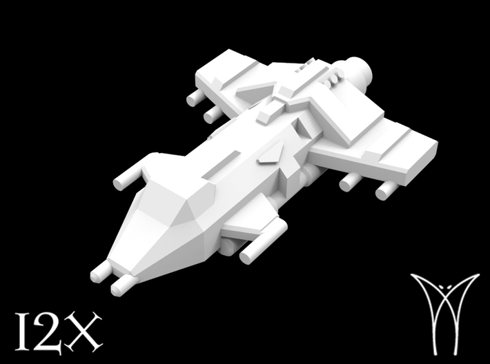 12 Aquila Attack Fighters 3d printed