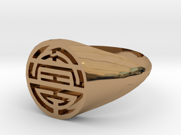 Longevity-Lady Signet Ring 3d printed