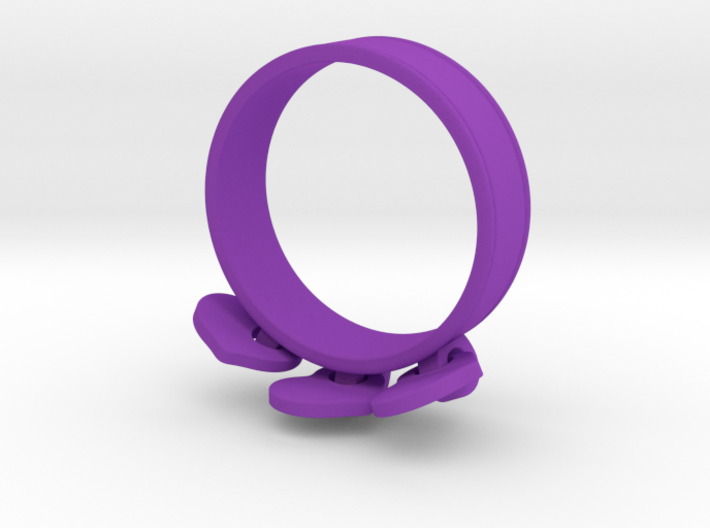 Heart Charm Ring 3d printed
