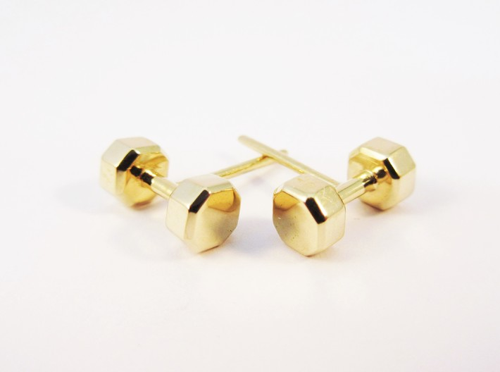 Dumbbells Earrings for the Fitness Fanatic 3d printed