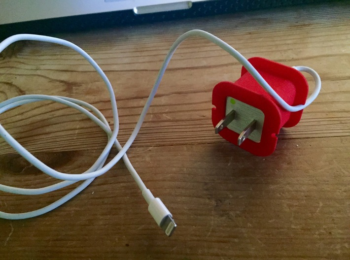 iPhone Charger Cord Spool 3d printed