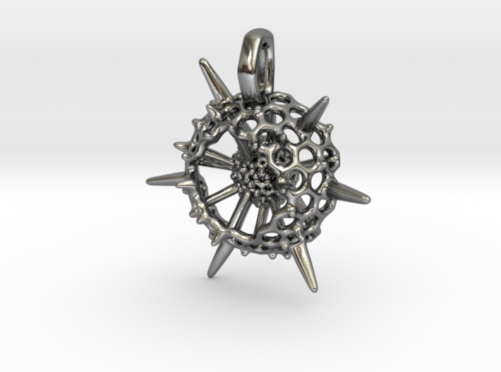 Small Spumellaria Pendant - Science Jewelry 3d printed