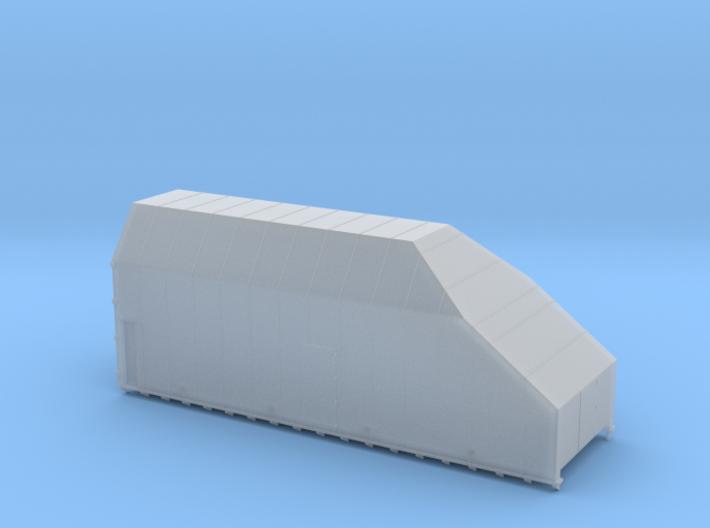 HO 1/87 Boeing fuselage railcar canopy 3d printed