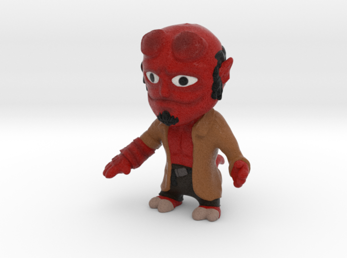 Hellboy without base 3d printed