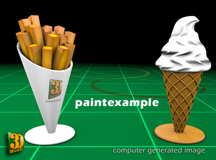 16 ICE & FRIES display stands (1:87) 3d printed ICE & FRIES display stands - paint example