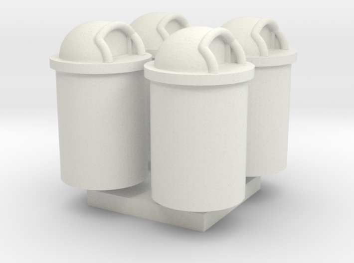 Trash Can 55 Gal HO 87:1 Scale Qty (4) 3d printed