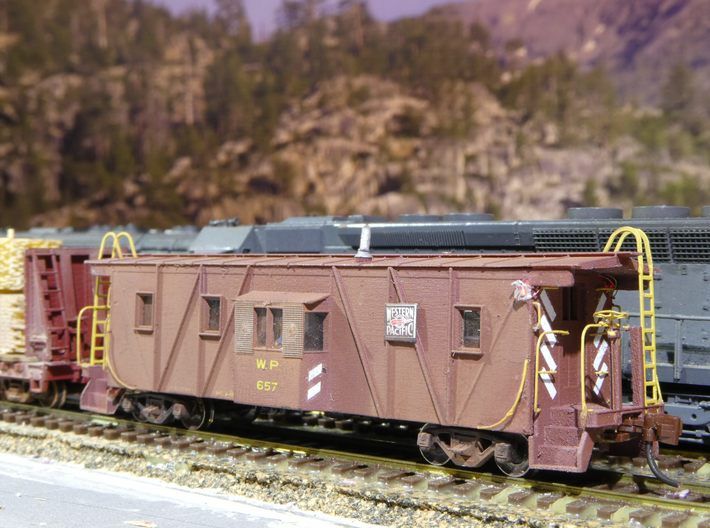 Western Pacific (WP & SN) Caboose N Scale 3d printed