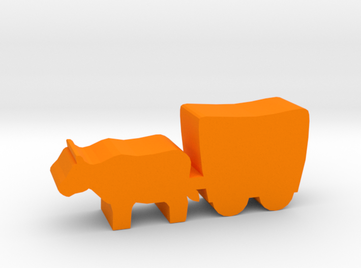 Game Piece, Smaller Ox And Wagon, 30mm version 3d printed