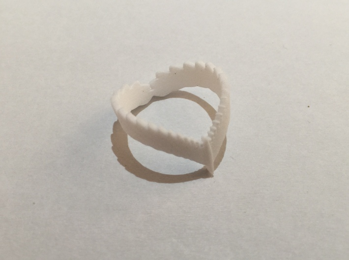 Falcon Wing Ring 3d printed