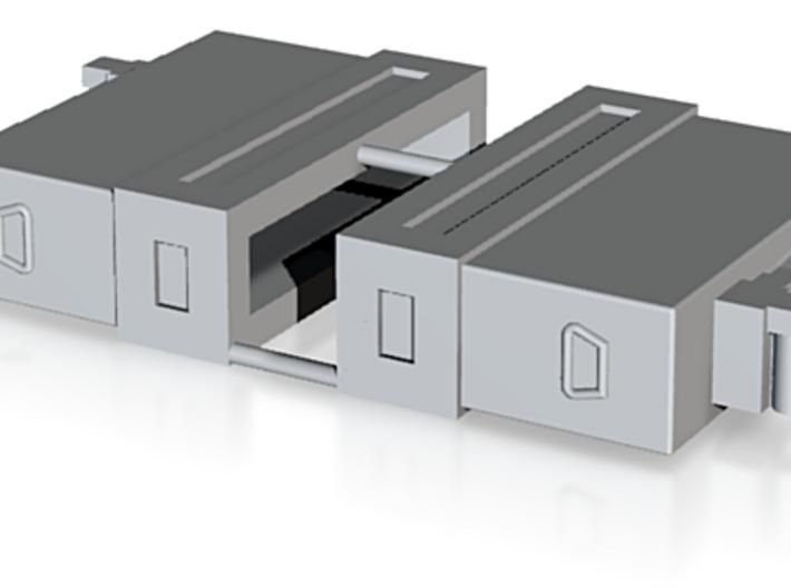 Mini Gun Ammo Boxes x 2 1/24 3d printed