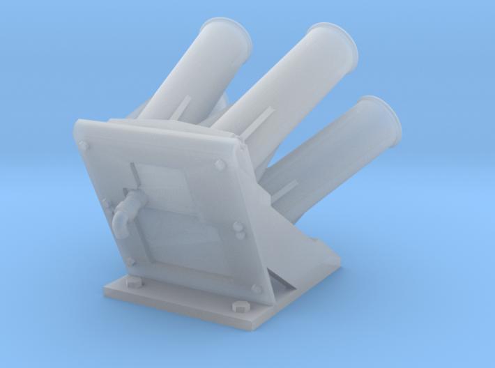 Quad Smoke Discharger 1/24 3d printed