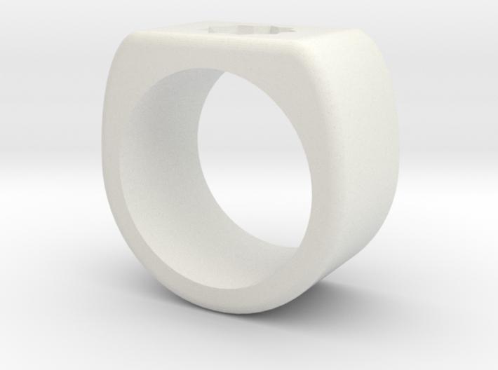 Bold Star Ring  3d printed
