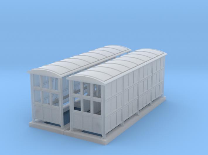 British N Gauge (1/148) Medium Platform Shelter Cl 3d printed