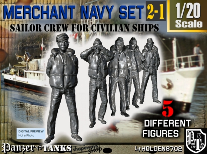 1-20 Merchant Navy Crew Set 2-1 3d printed