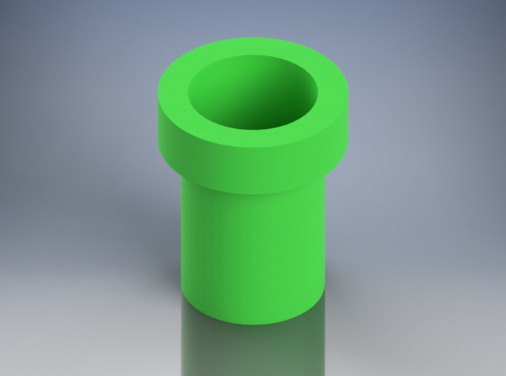 Mario Pipe Flowerpot 3d printed Rendered in Autodesk Inventor Pro 2016