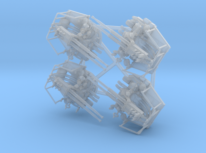 Twin Bofors x 4 Depressed 1/144 3d printed