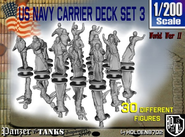 1-200 US Navy Carrier Deck Set 3 3d printed
