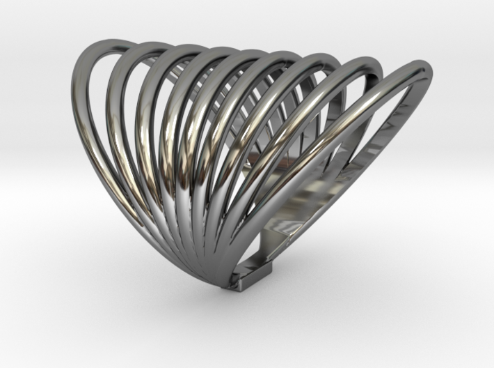 MAGNETIC FIELD RING Size 7 3d printed