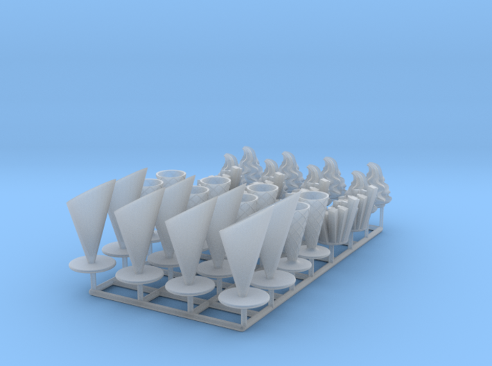 16 ICE & FRIES display stands (1:87) 3d printed