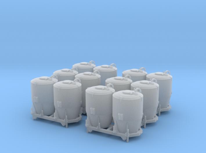 SET 6x Dzkr 501 Behälter (Tillig) (TT 1:120) 3d printed