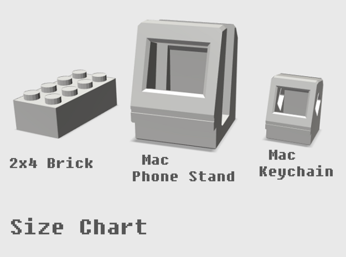 Apple Macintosh Classic Smart Phone Stand 3d printed