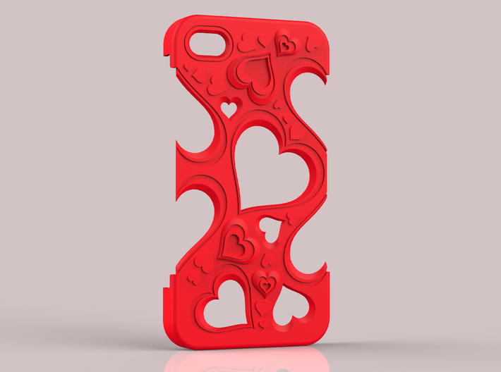 Hearts IPhone 5 v. II 3d printed