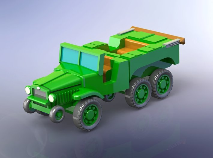 French Laffly W15T Tractor 1/285 3d printed