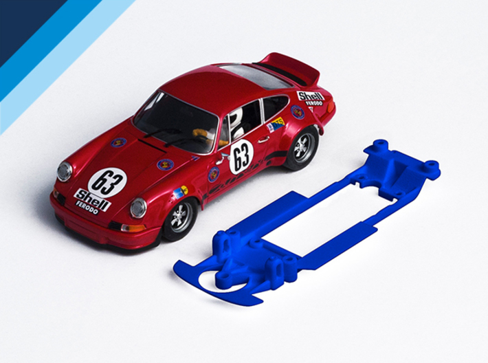 1/32 Fly Porsche 911 / 934 Chassis Slot.it IL pod 3d printed Chassis compatible with Fly Porsche 911 Carrera body (not included)