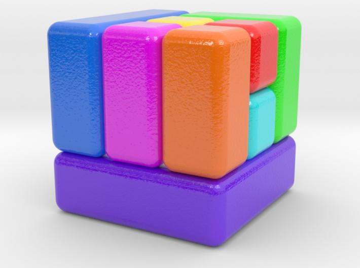 D6 Block Dice 3d printed