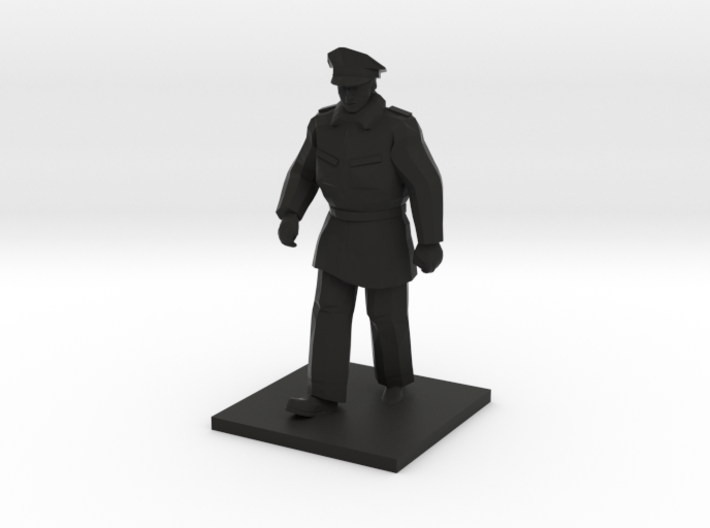 Police Walking (Winter in Gotham), Multiple Scales 3d printed