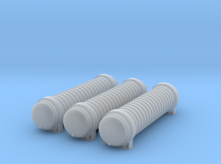 Lox Storage Tanks Z Scale 3d printed Three Lox Storage tanks z scale