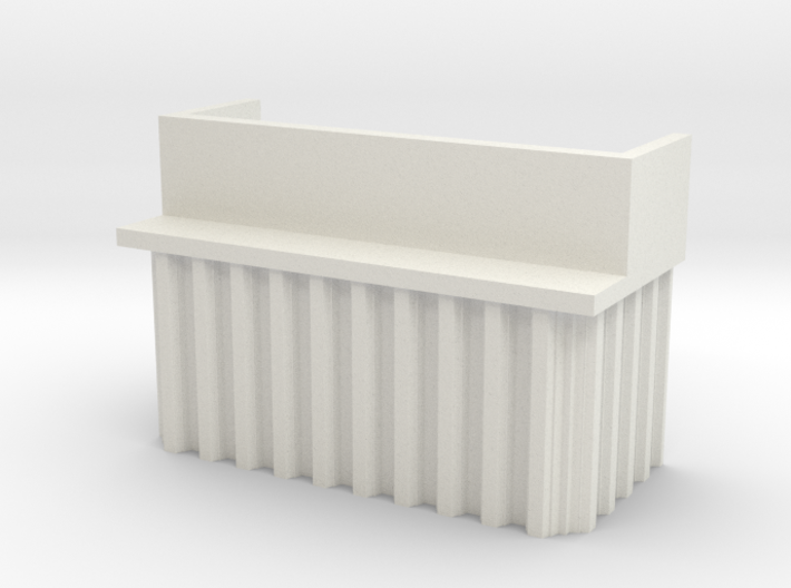 N Scale Bridge Abutment Sheet Piling (H55 W80) 3d printed