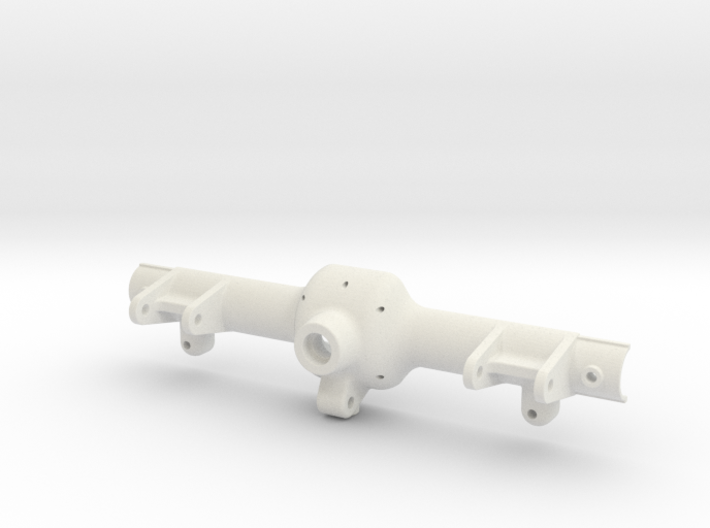 SCX10 axle case w Traxxas 1/16 Diff (rear half) 3d printed