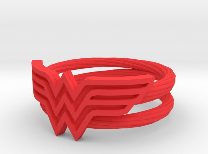 Wonder Woman Ring With Lasso Size 6 3d printed