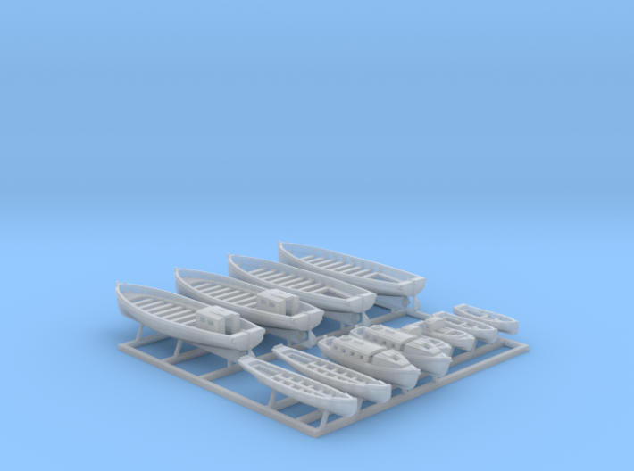 1/600 WW2 Royal Navy Boat Set 2 without Mounts 3d printed 1/600 WW2 Royal Navy Boat Set 2 without Mounts