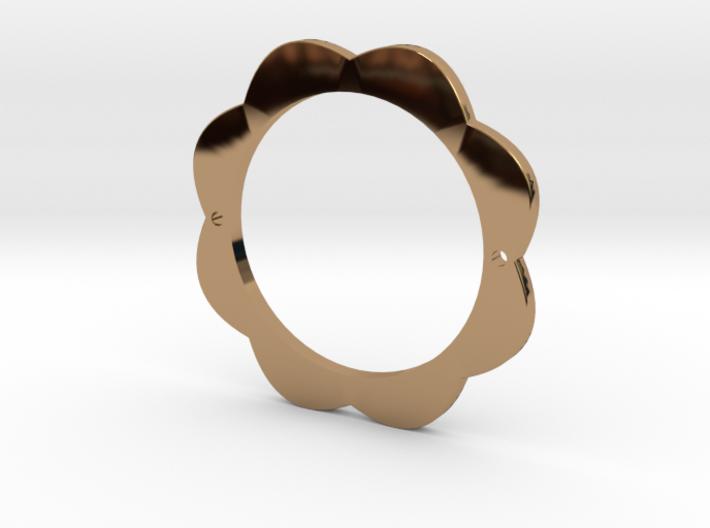 Flower Power Pendant for Necklace or Bracelet 3d printed