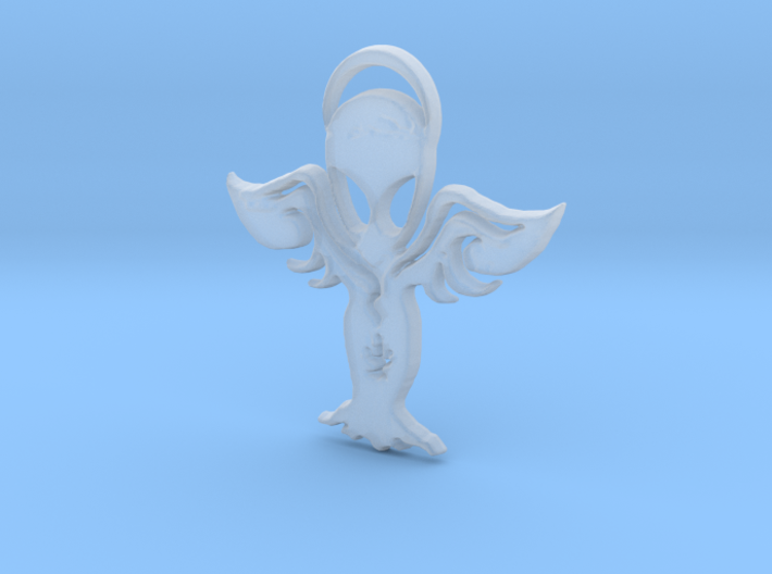 Aliens are the Angels with spread wings.2 earring 3d printed The angels are the aliens and vice versa.