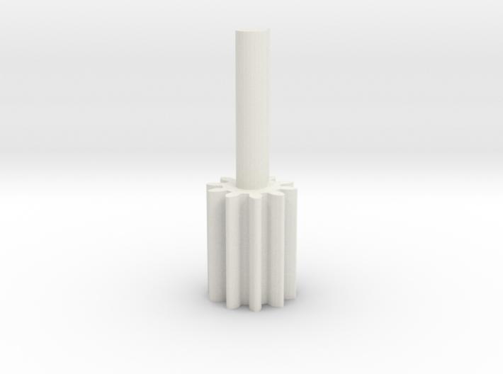 Cylindrical gear Mn=1 Z=10 - Alfa=20° Beta=0° b=15 3d printed