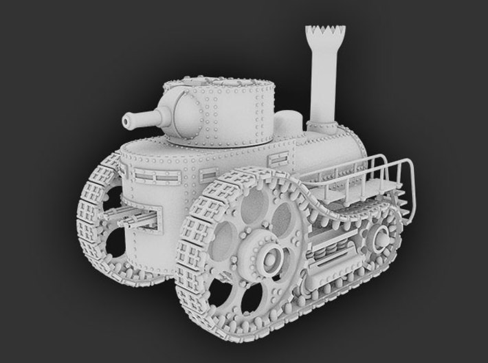 Steampunk Boiler Tank 3d printed This is a Blender render of the assembled tank.