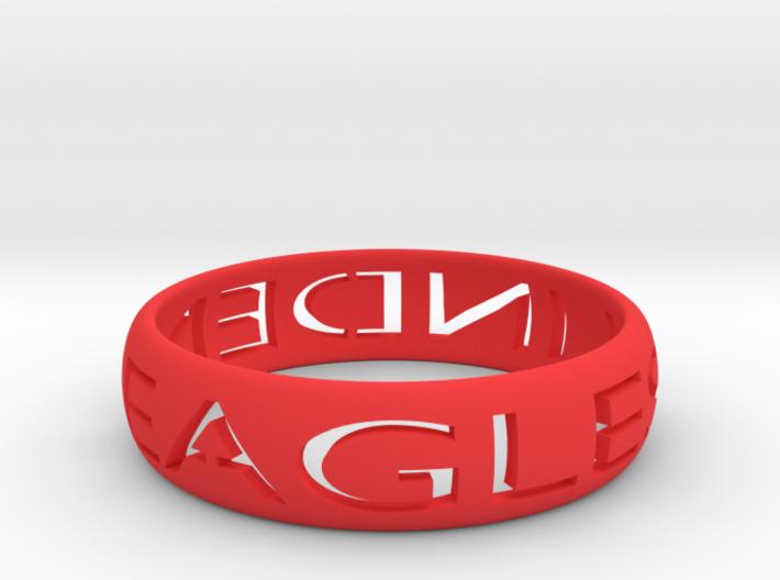 Linden Eagles Ring  3d printed