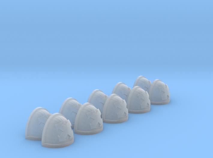 10 Shoulder Pads Quad Arrow 3d printed