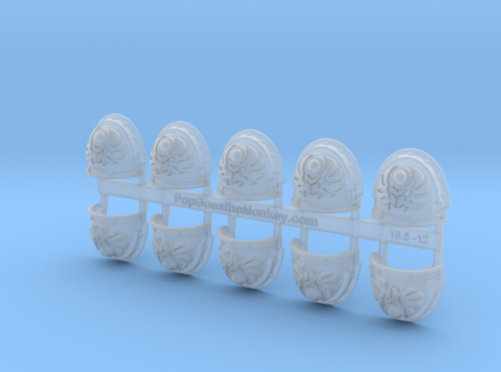 10x Sun Scarabs - G:3a Shoulder Pads 3d printed